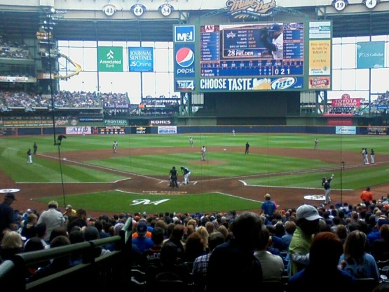 Milwaukee Brewers's Miller Park - Waiting for some fireworks