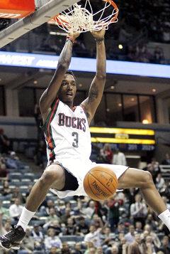 Milwaukee Bucks Basketball - Jennings fireworks